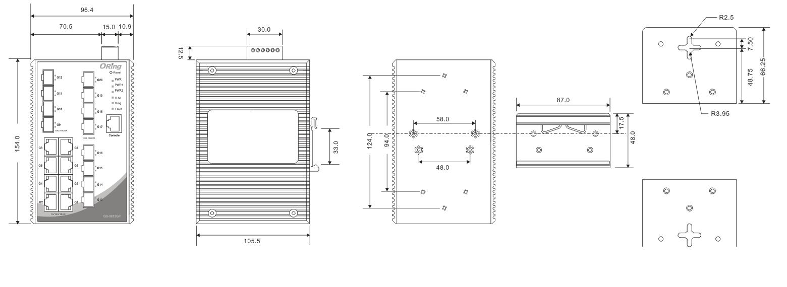 12-48vdc冗余电源, 6-pin接线端子